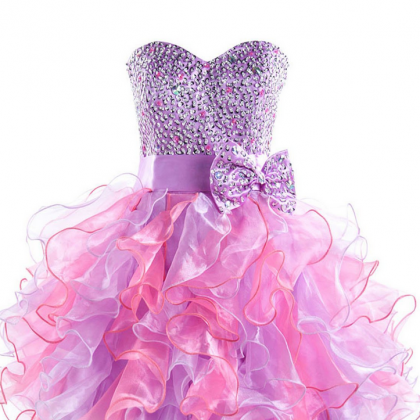 Purple Tulle Homecoming Dress,Sweet..