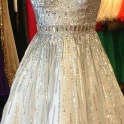 Sequin Shiny Short Beading Tulle Ho..