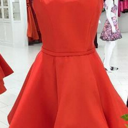 Short Red Homecoming Dress with Jew..