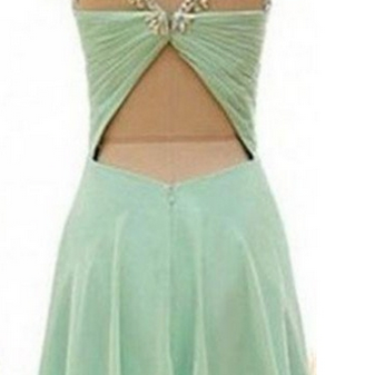 Mint Handmade Short Chiffon Backles..