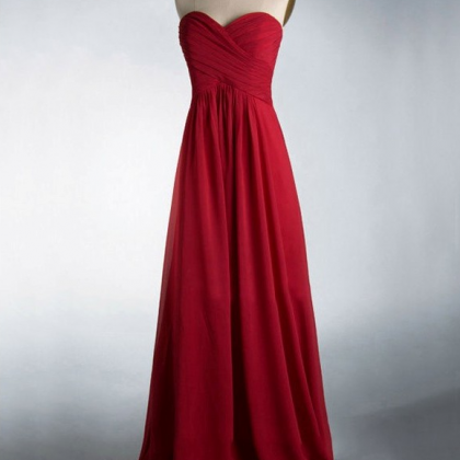 Cheap bridesmaid dresses ,red Bride..