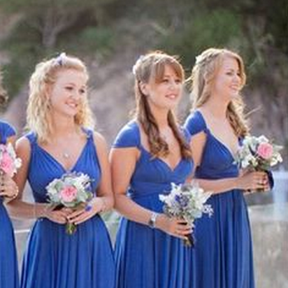 Sexy Bridesmaid Dress,V Neck Brides..