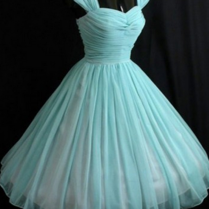 Vintage Turquoise Homecoming Dress,..