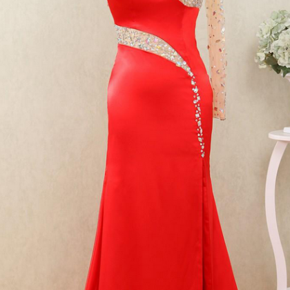 prom dresses,sexy side split dress..