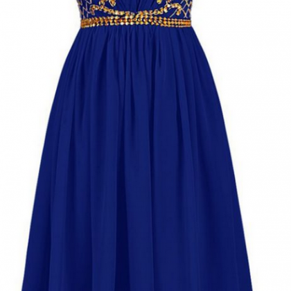 Royal Blue Short Homecoming Dress w..