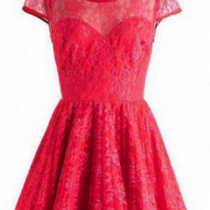Short Lace Homecoming Dress Customi..