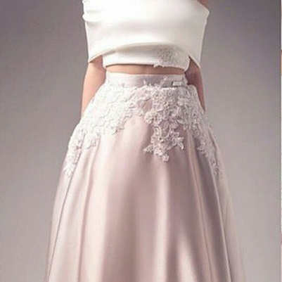 Sexy Pink Lace Prom Dress,Sheer Pro..
