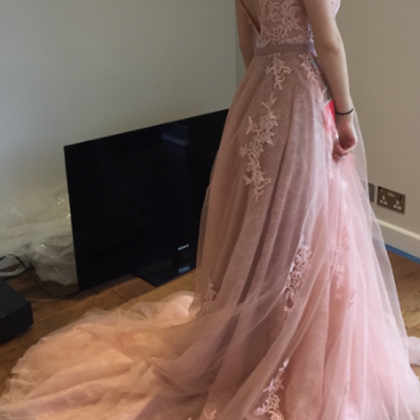 Pink Prom Dress Evening Dress Sheat..