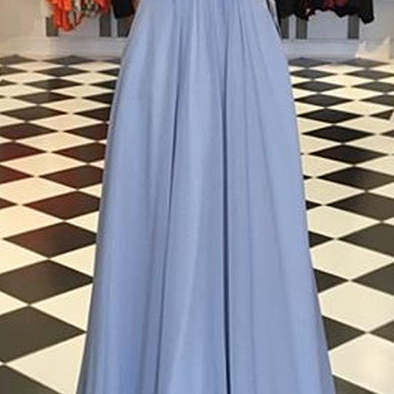 Halter Beaded A-line Long Prom Dres..