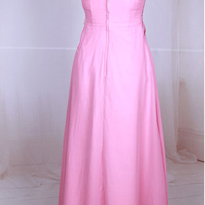 Pink Prom Dresses,Prom Dress,Simple..