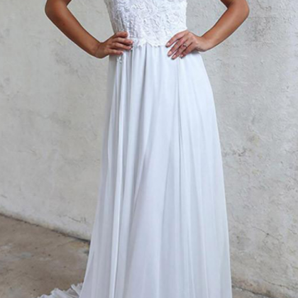 Chiffon Lace White Wedding Dresses ..