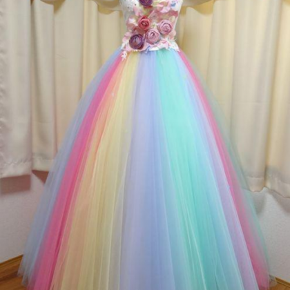 Floor Length Strapless Ball Gown Pa..