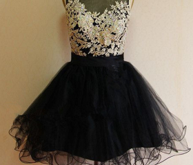 Black Organza Homeco..