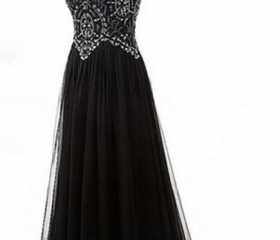 Black Evening Dress,..
