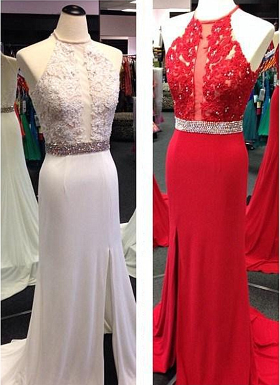 Evening Dresses, Formal Evening Dress, Lace Evening Dresses ,Handmade Evening Dress, Dress For Evening Halter Evening Dress