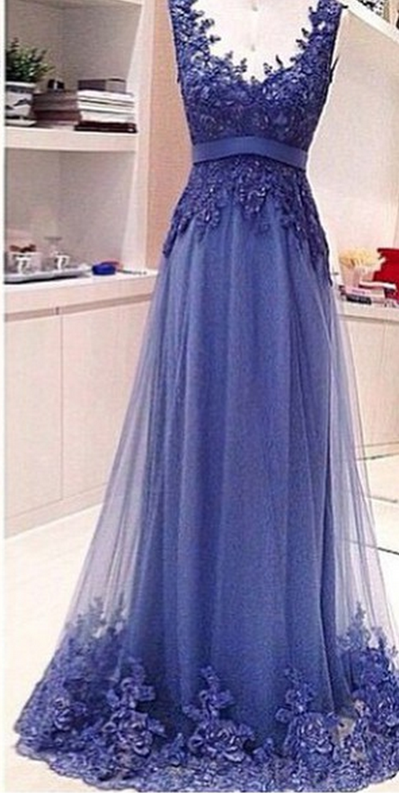 Custom Made Backless V Neck Lace Prom Dresses , Backless Lace Evening Dresses, Lace Formal Dresses