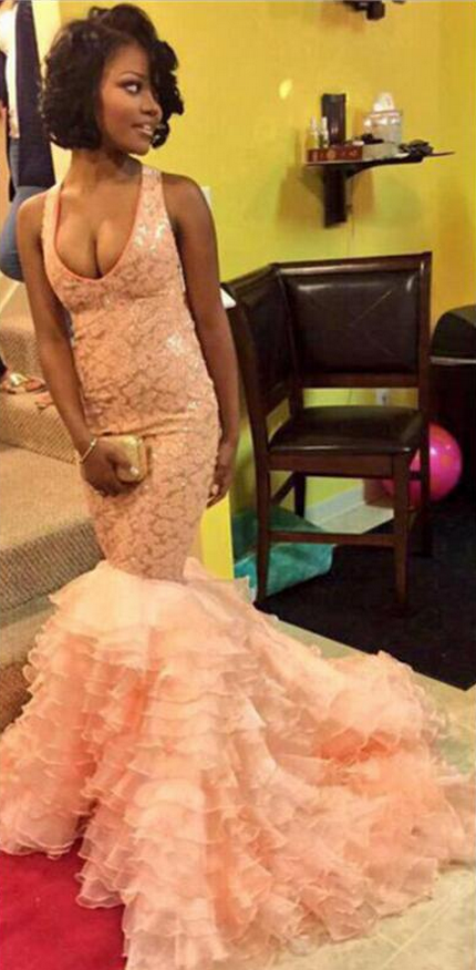 pink Prom Dress,Sexy Slit Prom Dress,Two-piece Party Dress ,Cheap Prom Dress