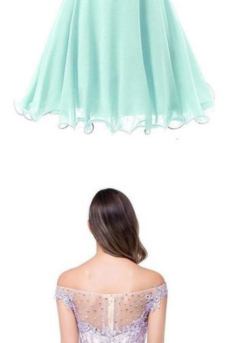 Ruched Chiffon Short Prom Dresses with Beading,Short Homecoming Dresses,SH61