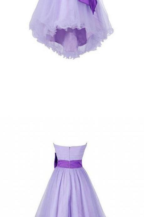 High low Homecoming Dresses, Short Prom Dresses, Tulle Homecoming Dresses