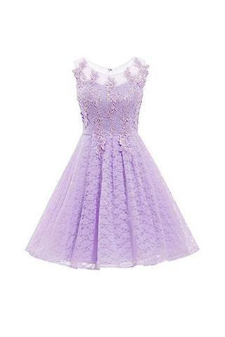 Short Homecoming Dress,Scoop Neck Prom Dress Homecoming Dress with Appliques Sequins