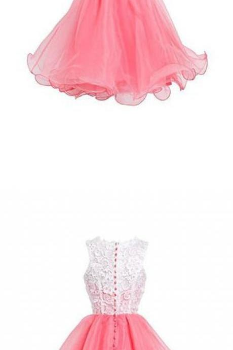 High Quality Organza Short Homecoming Dresses, Short Party Prom Dresses