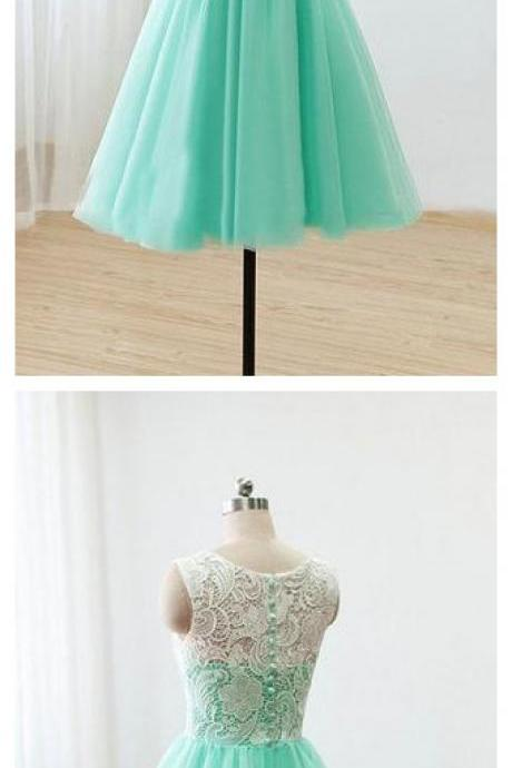 Mint Short Bridesmaid Dress,Lace Bridesmaid Dresses,Homecoming Dresses,