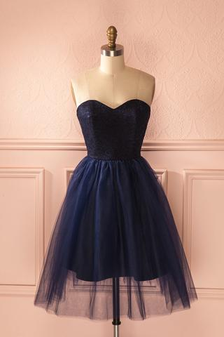 Navy Sweetheart Homecoming dresses, Tulle Homecoming Dresses, Zip up Homecoming Dresses, Cute Homecoming Dresses, Homecoming Dresses, Juniors Homecoming Dresses, Cheap Homecoming Dresses