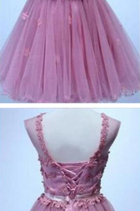 Homecoming Dresses, Appliques Homecoming Dresses, Organza Homecoming Dresses, Cheap Homecoming