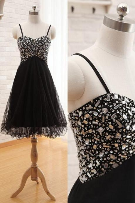 Black Prom Dress Gown Short,Cheap Prom Dress,Little Black Dress,Homecoming Dress,Evening Dress