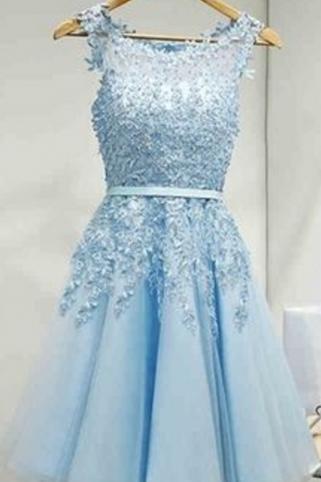 Blue Homecoming Dresses,Cute Homecoming Dresses
