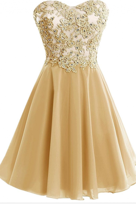 Sweetheart Short Applique Formal Cocktail Dress Homecoming Party Dresses