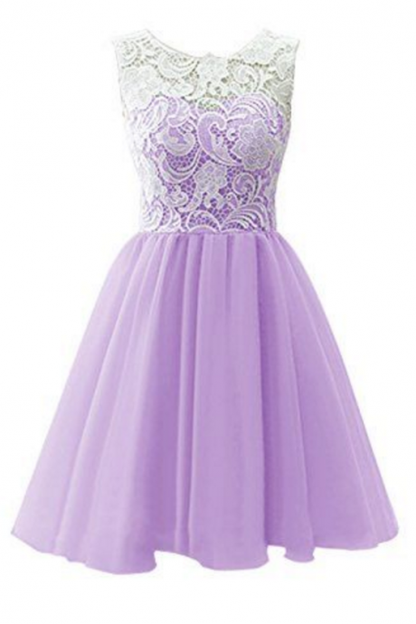 Lavender Homecoming Dresses,Lace Homecoming Dresses,Short Homecoming Dresses,Party Dresses