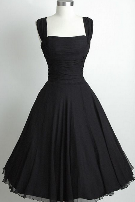 Black Chiffon Homecoming Dress,A-Line Homecoming Dresses