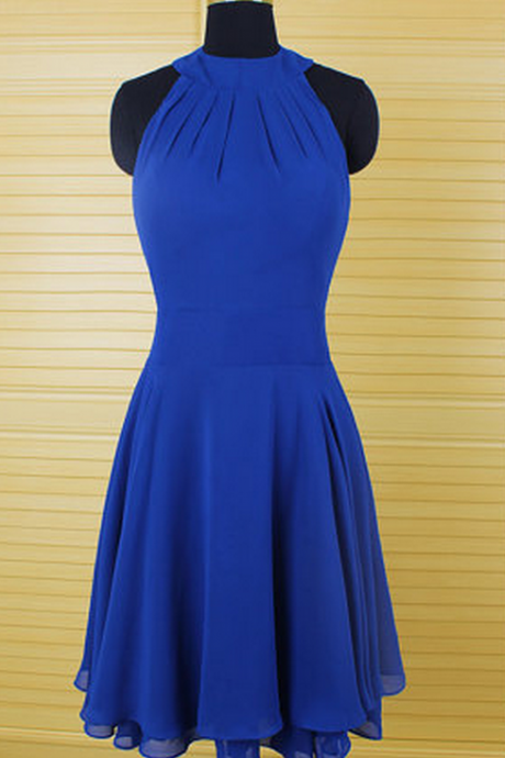 Chiffon Short Homecoming Dress,Royal Blue Homecoming Dresses