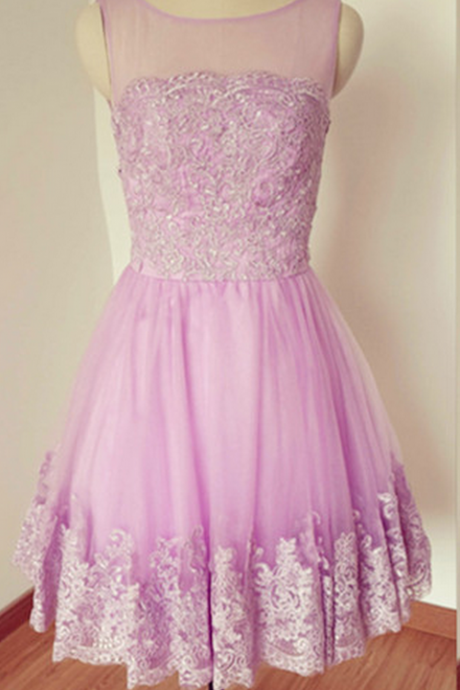 Sleeveless Homecoming Dress,Light Purple Homecoming Dresses