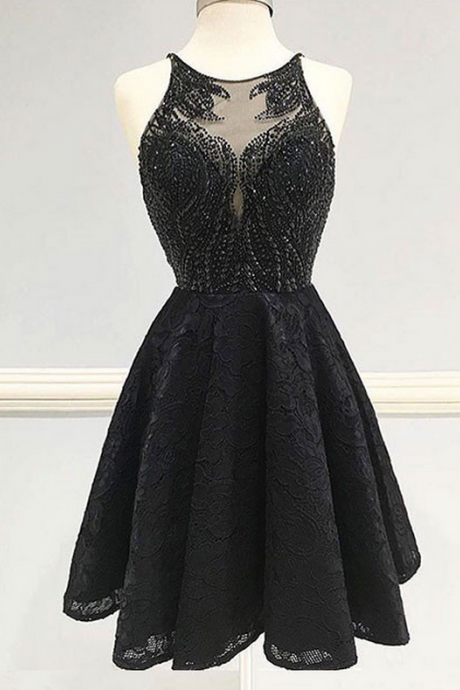 Black Homecoming Dress,Homecoming Dresses For Teens,Modest Homecoming Dress,Short Homecoming
