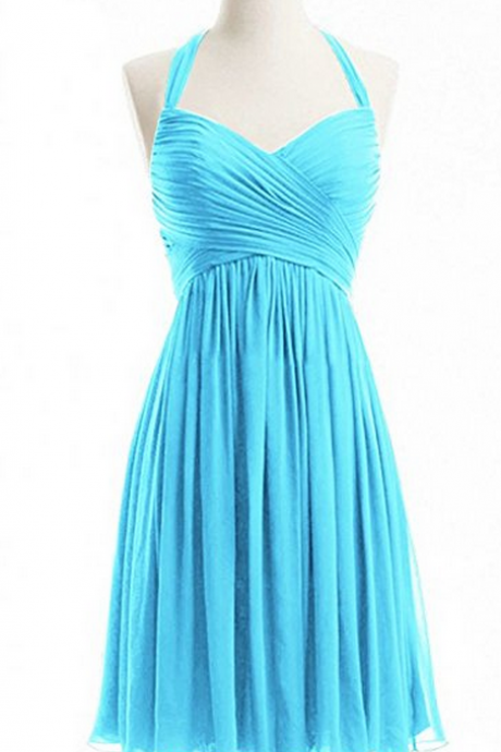 Bridesmaid Dresses,Short Bridesmaid Dresses,Halter Bridesmaid Dresses,Chiffon Bridesmaid Dresses,Ruched