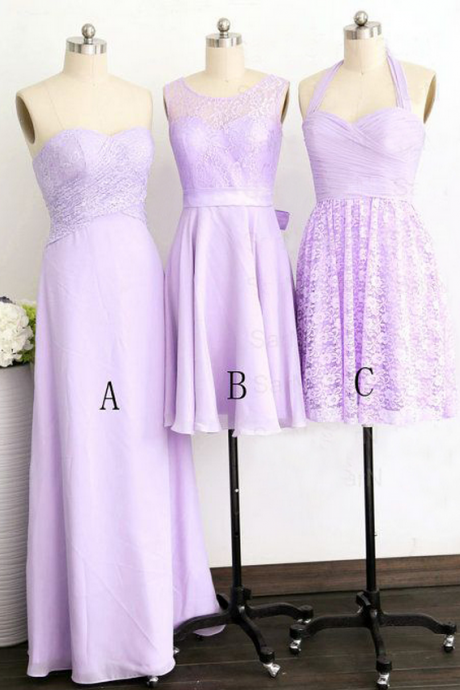 Purple Bridesmaid Dress, Long Bridesmaid Dress, Short Bridesmaid Dress, Cheap Bridesmaid Dress,