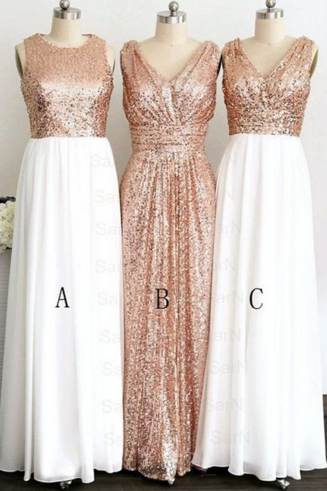 sequin bridesmaid dress,sparkle bridesmaid dress,long bridesmaid dress,mismatched