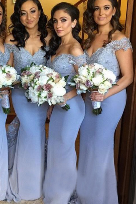 Bridesmaid Dresses, Bridesmaid Dress,Mermaid Bridesmaid Dresses,Off shoulder Bridesmaid Dresses,Bridesmaid Dresses Long,Bridesmaid