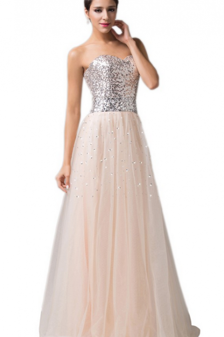 Sequin Beaded Tulle Bridesmaid Dresses