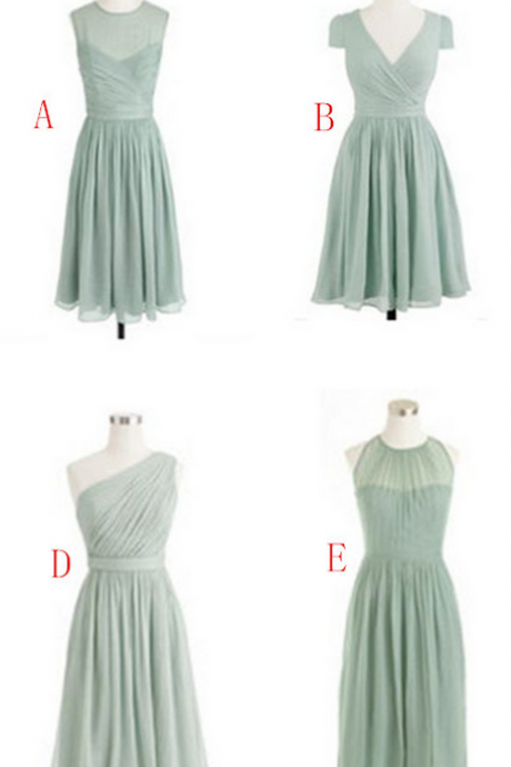 New Fashion Bridesmaid Dresses, Knee-Length Bridesmaid Dresses, Bridesmaid Dresses, Chiffon Bridesmaid