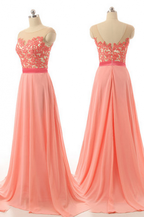 Peach bridesmaid dresses, lace bridesmaid dresses, custom bridesmaid dresses, cheap bridesmaid dresses