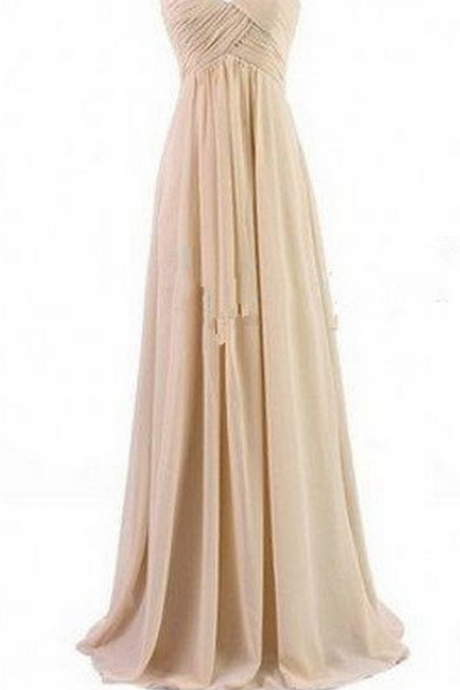 Bridesmaid Gown,Pretty Prom Dresses,Chiffon Prom Gown, Simple Bridesmaid Dress