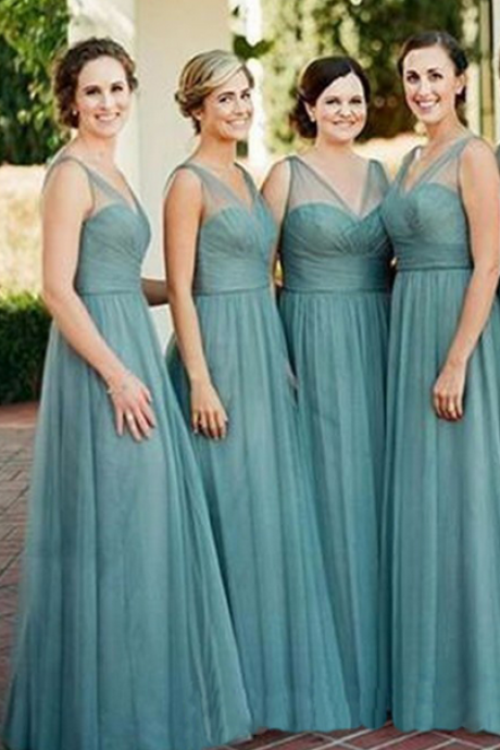 Bridesmaid Dresses,Cheap Bridesmaid Dresses,A-line Bridesmaid Dress,V Neck Bridesmaid Dress,Bridesmaid Dress Plus Size, Wedding Party Dresses,