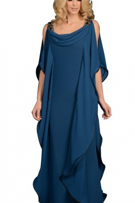 Elegant Evening Dresses ,Blue Evening Dresses, Chiffon Evening Dresses , Evening Dresses