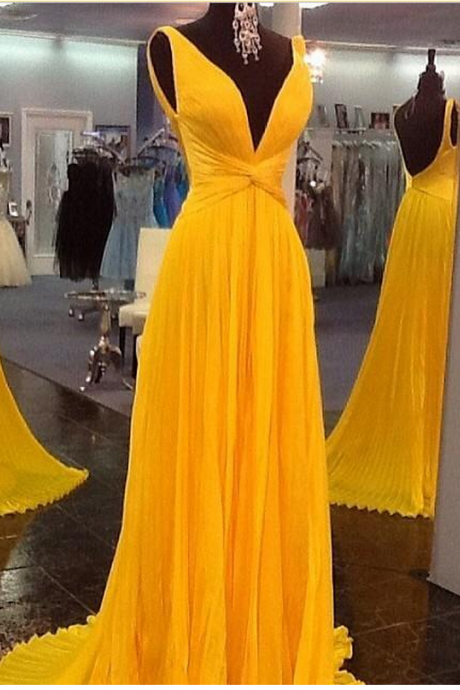 prom dresses, backless prom dresses,party dresses,plus size dresses,yellow evening dresses