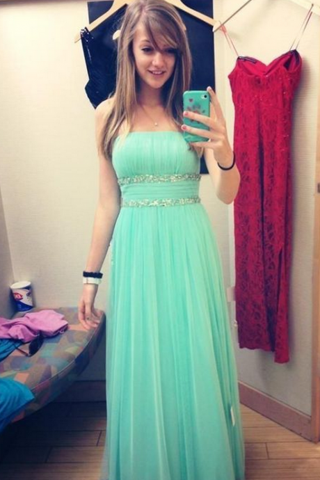 Light Green Evening Dresses,Sleeveless Evening Dresses,Long Evening Dresses,Evening Gowns,Red Carpet Dresses