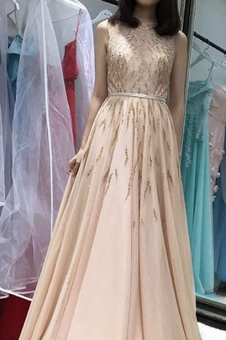 Charming Prom Dress, A Line Prom Dresses, Sexy Evening Party Dress, Long Homecoming Dress, Sleeveless Evening