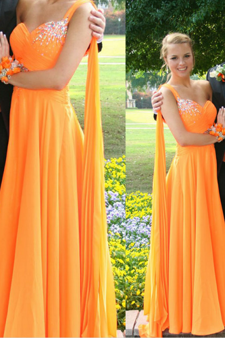 A-Line Prom Dresses,One Shoulder Prom Dress,Evening Dresses